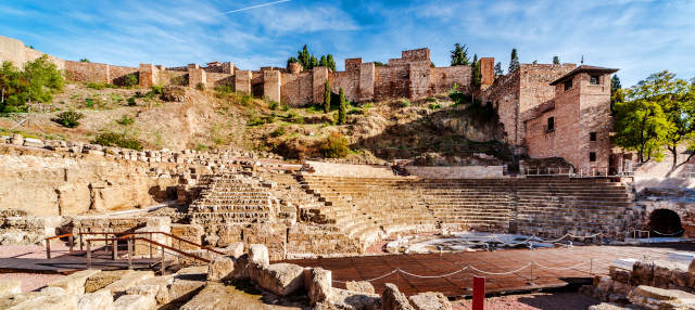 La Alcazaba y el Teatro Romano