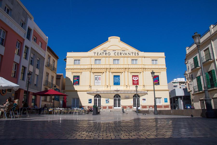 teatro cervantes malaga fachada
