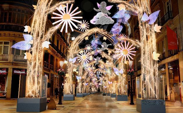 Calle Larios en Navidad